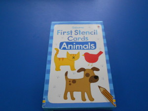 first stencil cards animals