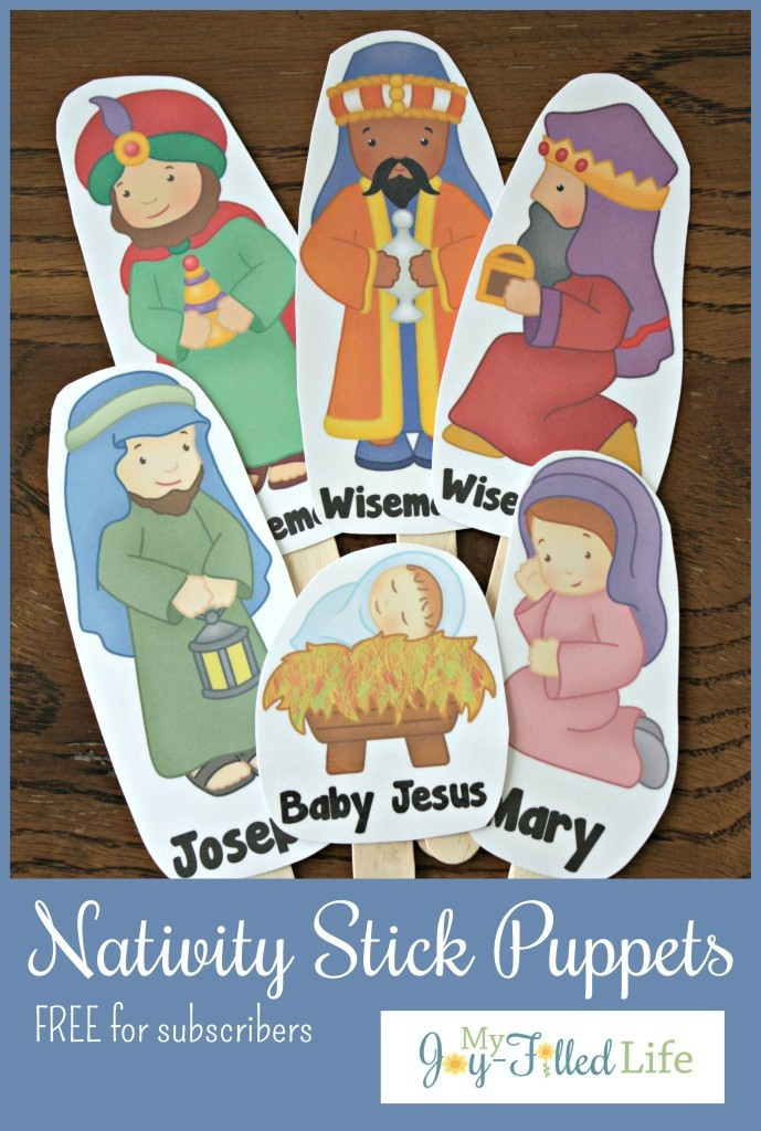 free nativity stick puppets