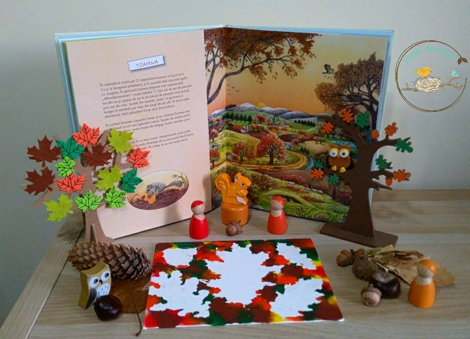 montessori painting fall